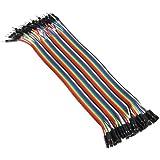 40x 20cm Male - Female jumper wire cable Kabel Steckbrücken Drahtbrücken Arduino