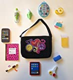 Cute Book Bag with School Supplies. 13 Pcs. Sized for American Girl Dolls.