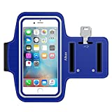5c iphone light blue wallet case - iPhone 6S Armband, iPhone 6 Armband, iPhone SE Armband, iPhone 5S Armband,Alkax Sports Exercise Water Resistant Armband Running Pouch Touch With Key Holder For Walking+One Free Stylus Pen(Dark Blue)