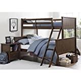 Better Homes and Gardens Ashcreek Twin/Full Bunk Bed, Mocha