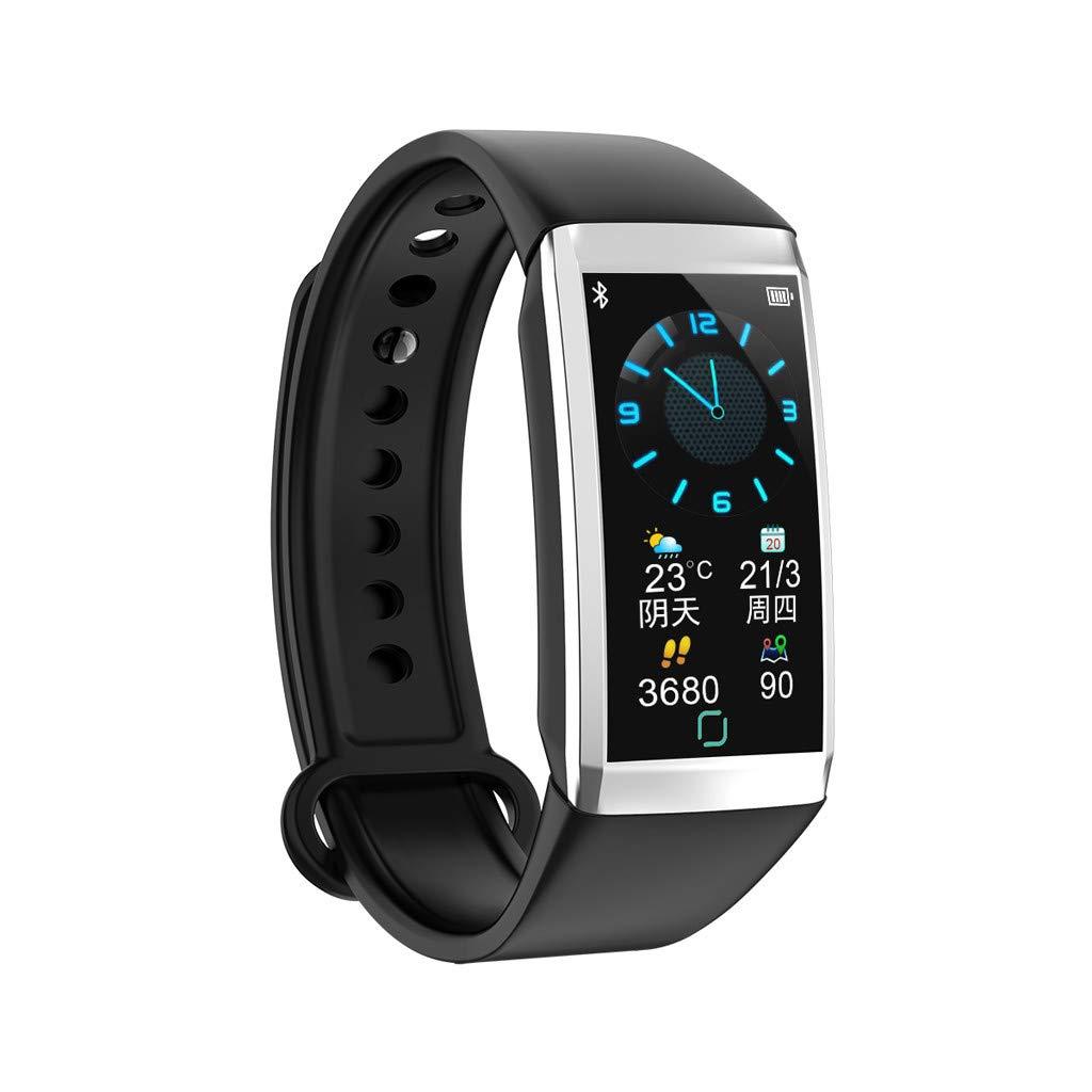 1.14inch Screen Heart Rate Blood Pressure Monitor Pedometer Sports Watche