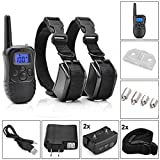 Dog Training Collar Rechargeable Electric LCD 100LV Shock (Two Collars)