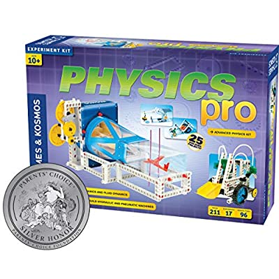 Thames & Kosmos Physics Pro (V 2.0) Science Kit   96 Page Color Manual   31 Experiments   Advanced Physics Education Kit   Parents' Choice Silver Award Winner: Toys & Games