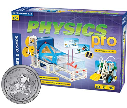 Thames & Kosmos Physics Pro (V 2.0) Science Kit | 96 Page Color Manual | 31 Experiments | Advanced Physics Education Kit | Parents