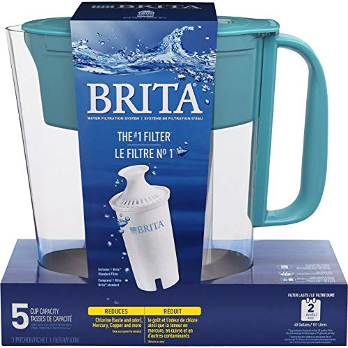 Brita Small 5 Cup Metro Water Pitcher with Filter - BPA Free - Turquoise by Brita (Image #9)