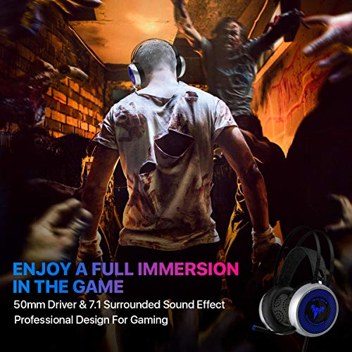 [Newest 2019] Gaming Headset for Xbox One, S, PS4, PC with LED Soft Breathing Earmuffs, Adjustable Microphone, Comfortable Mute & Volume Control, 3.5mm Adapter for Laptop, PS3, Nintendo by TBI Pro (Image #5)'