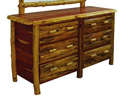 - Rustic Red Cedar Log 6 Drawer Dresser- Amish Made in the USA