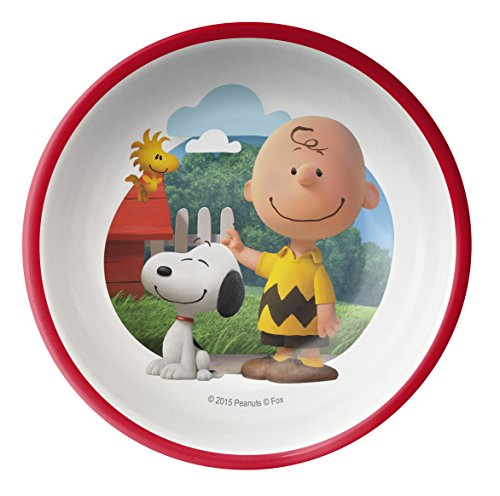 - Zak! Designs Cereal Bowl with Charlie Brown, Snoopy & Woodstock from Peanuts, Break-resistant and BPA-free Melamine