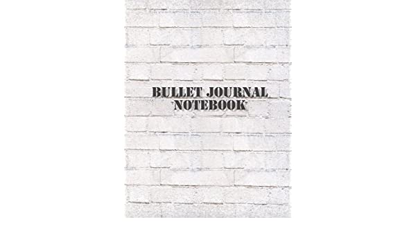 Bullet Journal Notebook Block Brick Wall Background Cover