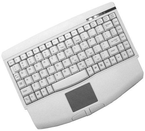 Adseeo Mini PS/2 Keyboard with Glidepoint Touchpad, White (ACK-540PW) by Adesso (Button Ps/2 Glidepoint Touchpad)