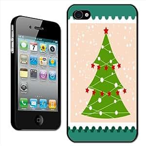 Fancy A Snuggle - Carcasa rígida para iPhone 4 y 4S, diseño árbol de Navidad