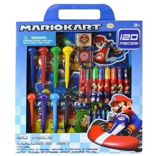 United Pacific Design 00270 Mario Kart 120 Piece Coloring Set