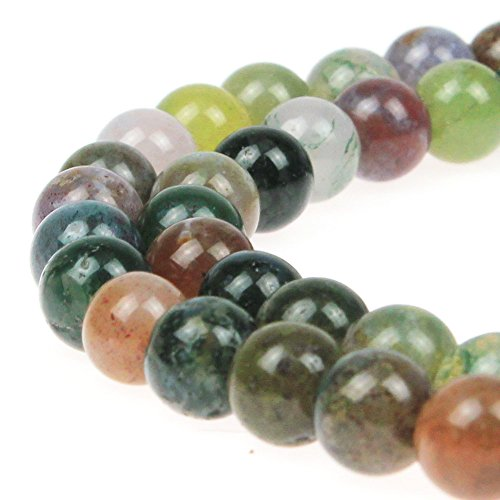 JarTc AAA Natural Round India Agate Stone Beads Onyx Loose Beads for DIY Necklace Bracelat Jewelry Making Strand 15