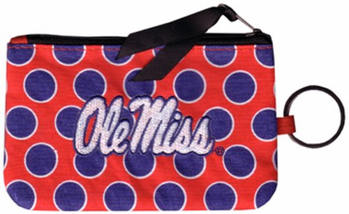 NCAA Ole Miss Rebels Keychain Coin Purse Divided