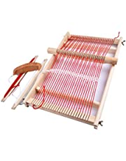 DIY Wooden Weaving Loom Kit, Wooden Multi-Craft Weaving Loom Large Frame, DIY Suit Wooden Multifunctional Handcraft Weaving Looms 15.75x 9.84 inches, the Best Family Games Gift for Kids Adults