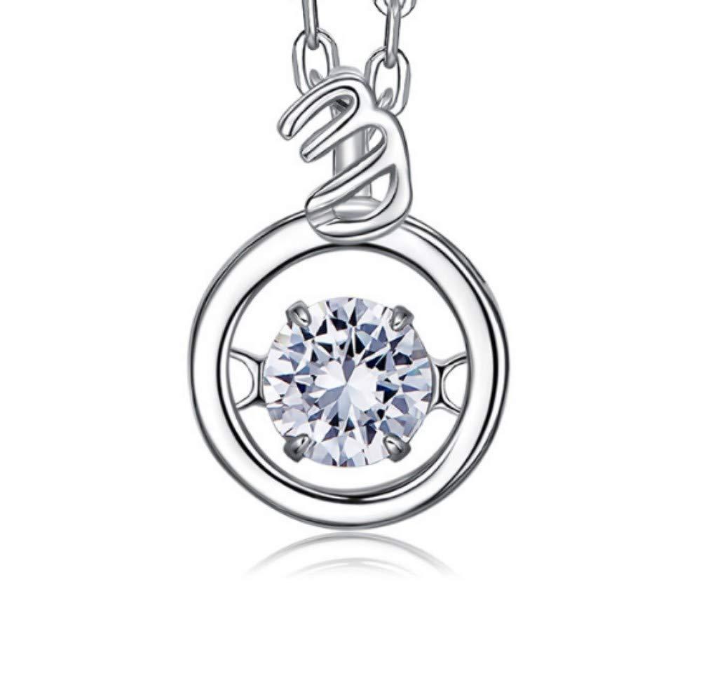 QWERST女性ネックレススターリングシルバー星座人格ペンダントファッションエレガントな絶妙なネックレス最高の贈り物   B07MQCW7WB