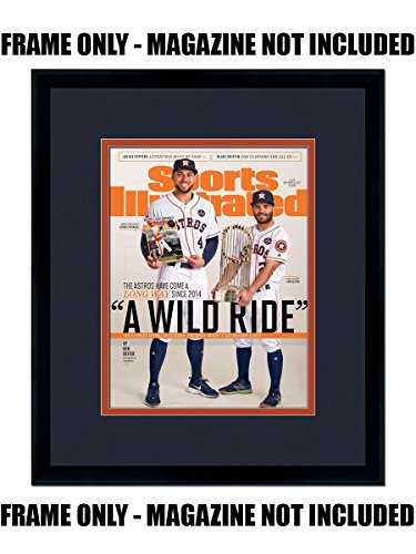 Newspaper Cover (Sports Illustrated Magazine Frame - with Astros Colors Double Mat)