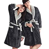 LBZE Couples Robe, Autumn and Winter Thick Lambskin Long Section Of Home Dressing Gowns
