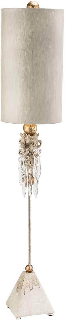 MADISON FB/MADISON/TL - Lámpara de mesa (1 bombilla de 100 W y E27), diseño de llamas