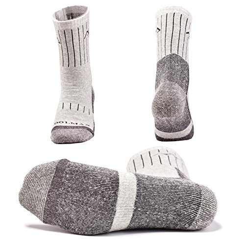 SUDILO Crew Cushion Hiking Trekking Socks,Coolmax Multi Performance Antiskid Wicking Outdoor Athletic Socks by SUDILO (Image #4)