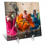 3D Rose Mexico-Oaxaca-Mexican Folk Dance 01 Desk Clock, 6'' x 6''