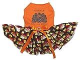 Petitebella Gobble Til You Wobble Orange Shirt Turkeys Tutu Puppy Dog Dress (XX-Large) Review
