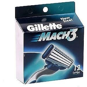 Amazon.com: Gillette Mach3 Cartridges (Pack of 12): Beauty