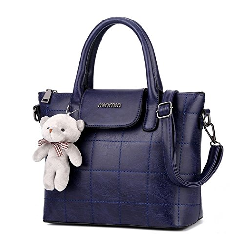hydne-womens-fashionable-elegant-teddy-bear-large-capacity-vintage-handbagnavy