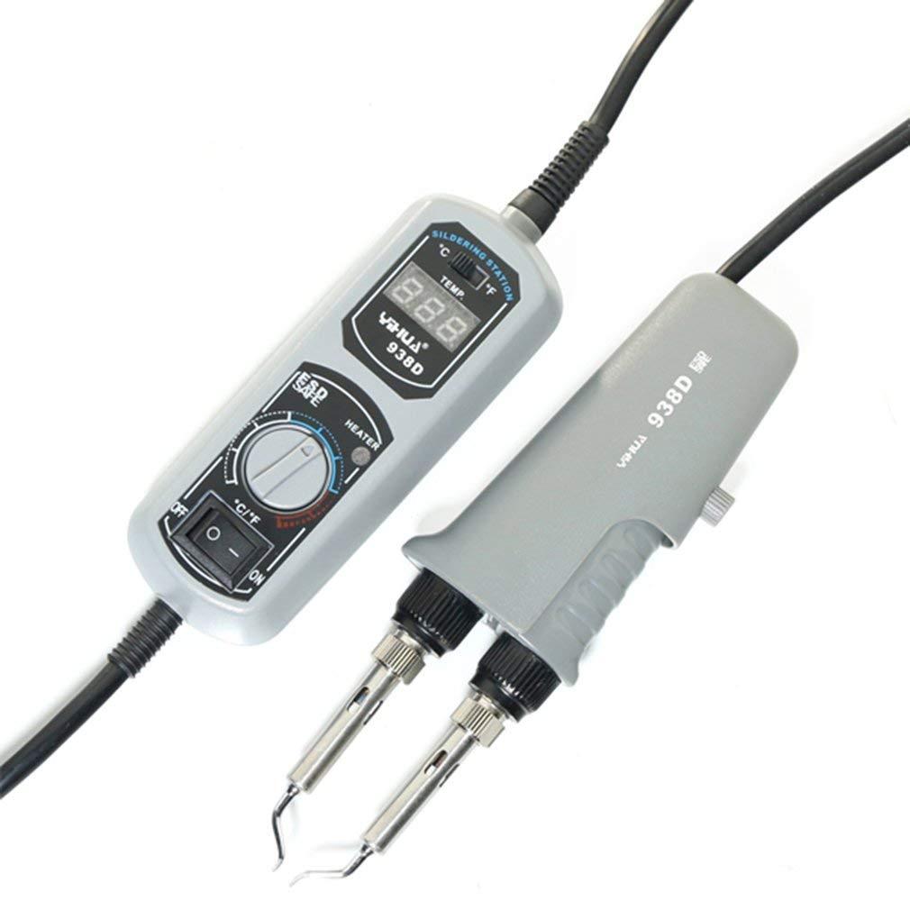 Leoboone 110V//220V EU//US//UK Plug 938D Portable Hot Tweezers Mini Soldering Station Hot Tweezer for BGA SMD Repairing Tool