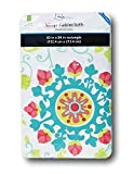 Vinyl Flannel Backed Indoor Outdoor Tablecloth - Spring/Summer 2016 - Rectangular - by Mainstays (60 x 84, Multi-Floral Medallion)