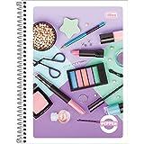 Caderno de 01 Matéria Flexivel 2019 Pepper Feminino 80 Folhas - Pacote com 4, Tilibra, 23.672-1, Multicolorido