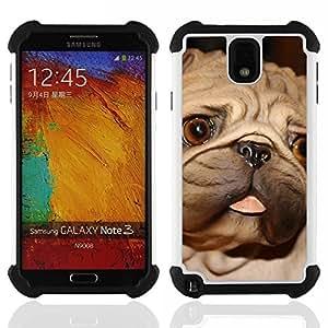 King Case - pug tongue big brown eyes dog small - Cubierta de la caja protectora completa h???¡¯???€????€?????brido Body Armor Protecci?&f