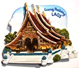Wat Xieng Thong, Luang Prabang, LAOS, High Quality Souvenir Resin 3d Fridge Magnet ** BUY 5 GET 1 FREE **Special Promotion until Jul 30th** (Can be mixed with each other)