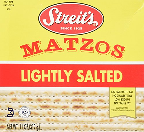 Streits Matzo, Lightly Salted, 11-Ounce Box (Pack of 8)