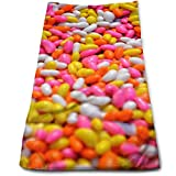 jelly bean cotton candy machine - Zio Qxqahu Super Absorbent Cotton Towel Colorful Candy Sweet Beans Candy Sugar Beans Peas Yellow Food Pink White Color Delicious Jelly Sweet Beans Dessert Colorful Sports Towel 30x70cm