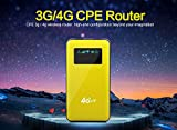 (US) KuWFi 4G LTE Router 6000mAh Power Bank 3G/4G WIFI Router Wireless AP CPE Travel Mobile Wifi Hotspot Support US network band B3/B1 1800mhz/2100mhz RJ45 to WiFi