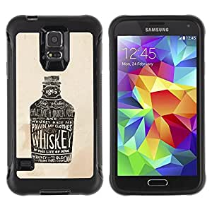Pulsar iFace Series Tpu silicona Carcasa Funda Case para Samsung Galaxy S5 V , Bouteille de whisky Bar Bars Parti Alcohol Art