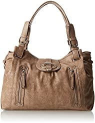 (2.8折)玖熙Nine West美女时尚提挎两用包Zipster Satchel Top Handle Handbag$25.18