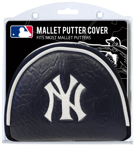 (Team Golf MLB New York Yankees Golf Club Mallet Putter Headcover, Fits Most Mallet Putters, Scotty Cameron, Daddy Long Legs, Taylormade, Odyssey, Titleist, Ping, Callaway)