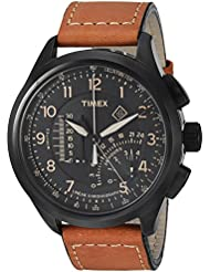 Timex Mens T2P277 Intelligent Quartz Analog Display Analog Quartz Brown Watch