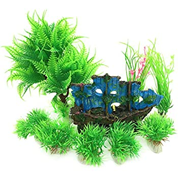 Simulated Aquatic Grass Anshinto Aquarium Fish Tank Fish Tank Plastic Decoration Aquarium Green Plants Water Grass Ornament Plant