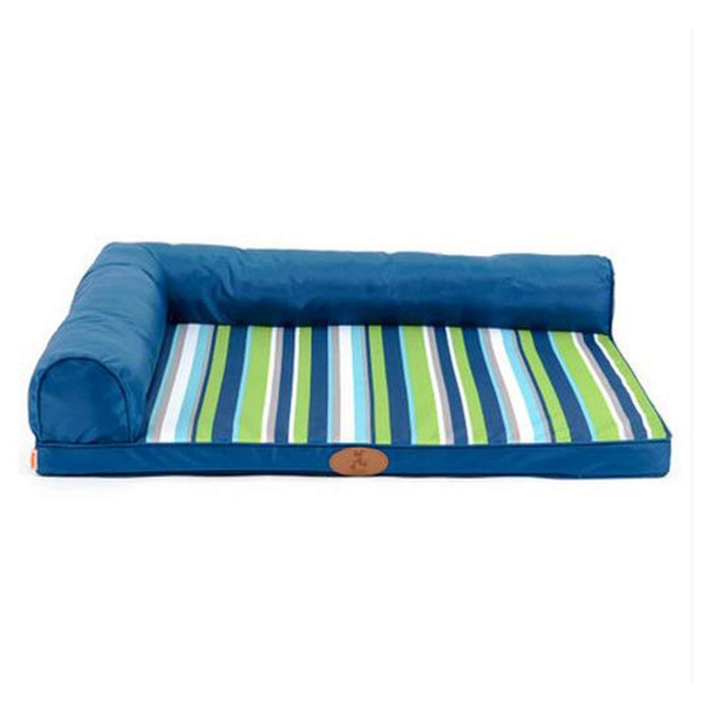 blu Bridge Casa del Cane, Pet Nest Fresco Caldo Confortevole stuoia Lavabile Estate Inverno Pet Bed Forniture per Animali (Dimensioni  M) (Dimensione   Medium)
