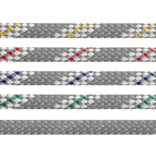 DOUBLE BRAIDED -BLIZZARD - 24 STRAND POLYESTER COVER AND POLYESTER CORE (GREY/BLUE, 5mm)