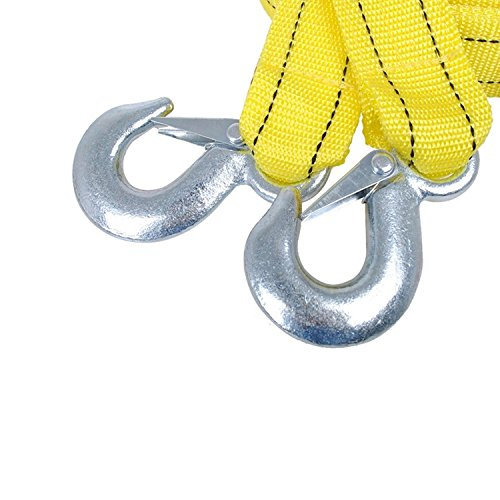 ACEDIUS Heavy Duty Tow Strap with safety hooks,5 TON capacity,13ft polyester rope