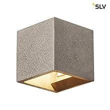 SLV - Lámpara de pared LED SOLID CUBE para la acogedora iluminación interior de paredes, pasillos, fachadas, escaleras, entradas, lámpara de pared, iluminación de pared, foco LED G9, máx. 25 W, D - A+