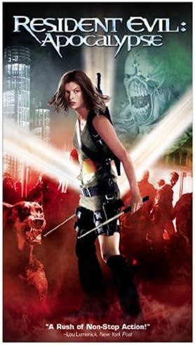 Amazon Com Resident Evil Apocalypse Vhs Milla Jovovich