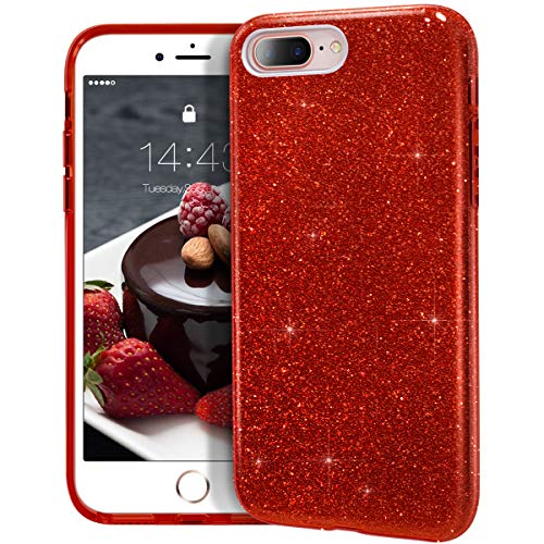 (MATEPROX iPhone 8 Plus case,iPhone 7 Plus Glitter Bling Sparkle Cute Girls Women Protective Case for iPhone 7 Plus/8 Plus 5.5