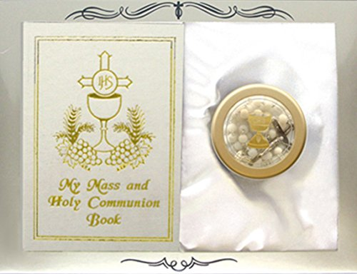 My Mass and Holy Communion Missal and Rosary with Case First Communion Gift Set for Girls