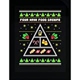 Four Main Food Groups Of Candy Ugly Christmas Sweater - Sticker
