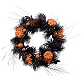 DII Decorative Pumpkins and Leaves 16'' Fall Wreath for Front Door or Indoor Wall Décor to Celebrate Halloween & Fall Season